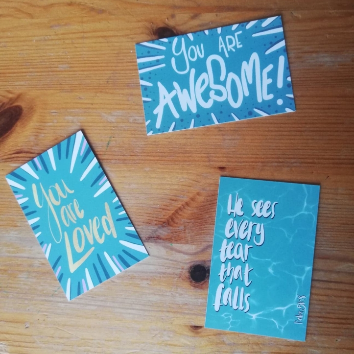 Set of encouragement cards by LucyJoyArtist