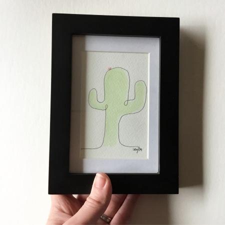 LucyJoyArtist - one line art -cactus
