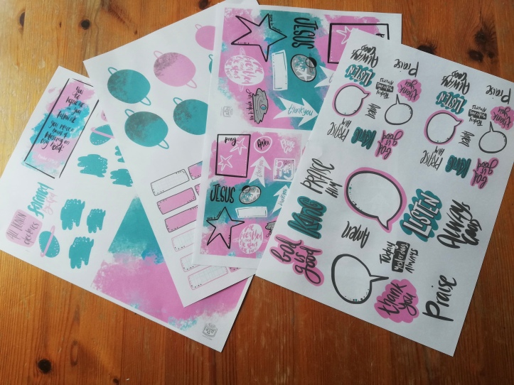 Bible Journalling downloadable supplies by Lucy Joy