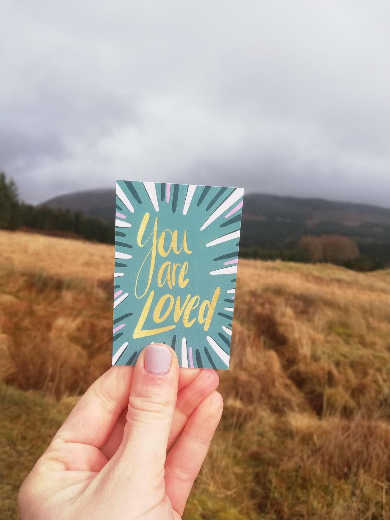 You are Loved - encouragement card by Lucy Joy