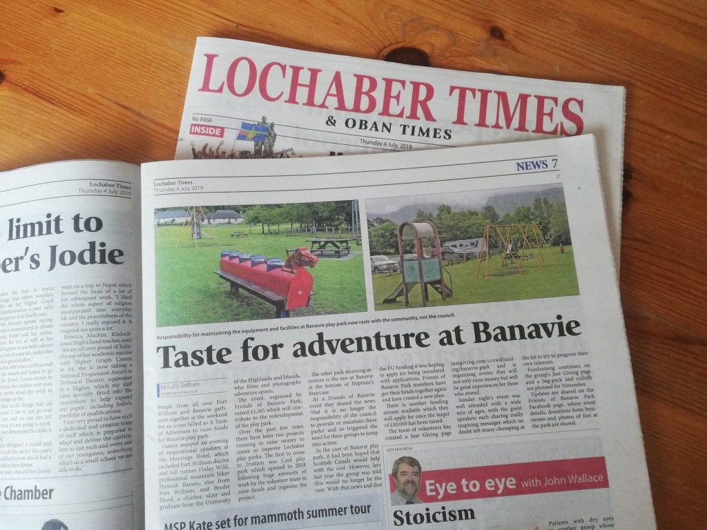 Lucy Joy freelance writer and journalist for Lochaber Times