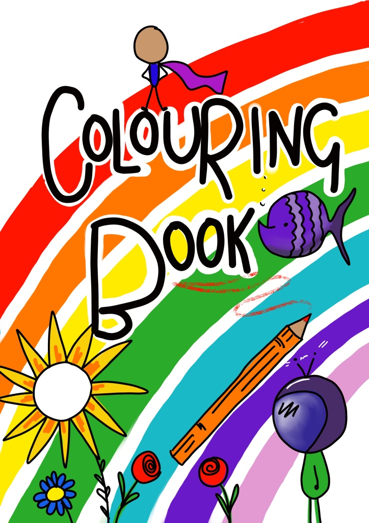 Colouring book created by Lucy Joy full of inspiring quotes and images