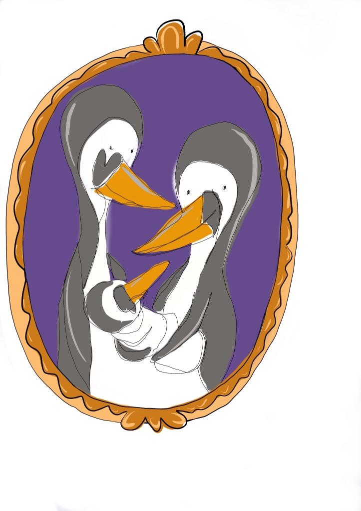 Lucy Joy one line art for penguin fans
